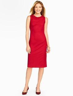 Talbots - Italian Flannel Portrait Collar Sheath Dress | New Arrivals |