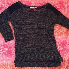 black long sleeve sweater Super cute, lace open-back, long sleeve sweater! Blu Pepper Sweaters