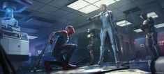 Marvel's Spider-Man Concept Art by Dennis Chan Spider Man Playstation 4, Spider Man 2018, Spiderman Kunst, Concept Art World, Man Wallpaper, Marvel Comics Art, New Museum, Amazing Spiderman, Environment Design