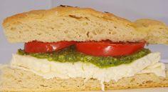 I made homemade pesto and fresh gluten-free focaccia to create a golden, crispy gluten-free mozzarella panini. Gluten Free Pizza, Gluten Free Baking, How To Make Pesto, Homemade Pesto, Fresh Mozzarella, Sandwiches, Brunch, Cooking, Recipes