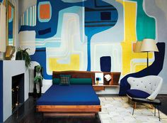 Interior inspired by Roberto Burle Marx.  We'll want a wall in Riley's room to do something fun on.