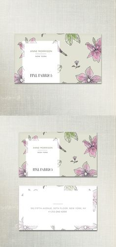 Floral Print Business card Template $9 This elegant business card template comes with the high resolution 100% editable source .PSD file. Card dimensions: 3.5 X 2 inches Additionally any changes to the text/customizations are included in the cost. Just purchase the design and contact me with the changes you need. I will make them and deliver the final editable file to you! #businesscard #buy