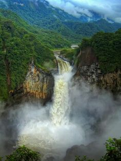 #God's #Amazing #Moutains #Beautiful #Waterfall.