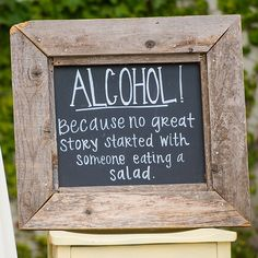 Encourage your guests to indulge in some adult beverages.