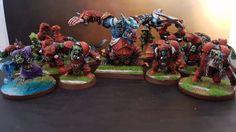 BLOOD BOWL ORKS TEAM Custom & Propainted | Toys & Hobbies, Games, Miniatures, War Games | eBay!