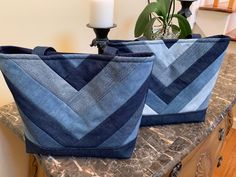 Upcycled Denim Patchwork Shoulder Tote Bag Made with Upcycled Denim Jeans – Nähen Ideen Denim Jeans, Denim Patchwork, Recycled Denim, Diane Von Furstenberg, Bag Making, Hand Sewing, Blue Denim, Upcycle, Cotton Fabric