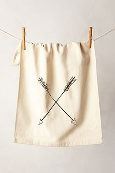 Have guests sign framed dishtowel for a different approach to a guest book Crossed Arrows Dishtowel Front