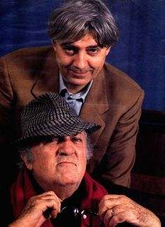 The cartoonist Milo Manara with the legendary director Federico Fellini. Comic Book Artists, Comic Books, Tulum, Manara Milo, The Beautiful And Damned, Lucky Luke, Epic Movie, Cinema Movies, Children Images