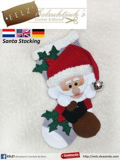 Kerstsok Kerstman - Haakpatroon van Eelz! - Eelzuhtjuh's Crochet & More op DaWanda.com