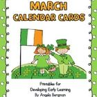 Print, laminate, and cut-out the calendar cards to use in your classroom or home for the month of February The calendar cards can be used in standa...