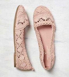 AEO Crochet Ballet Flat - Free Shipping