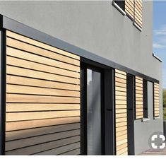Siding Colors For Houses, Exterior Siding Colors, House Shutters, Window Shutters, Window Awnings, Door Design, House Design, Casa Loft, Wood Facade