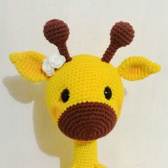 Amigurumi Girafa Gigi Big no Mix R Giraffe Crochet, Crochet Hats, Flamingo, Tweety, Elsa, Pikachu, Alice, Dolls, Mix