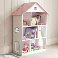 A fabulous freestanding version of 'Dotty Doll's House' Wall Shelf (L1904), perfect for the bedroom or playroom.