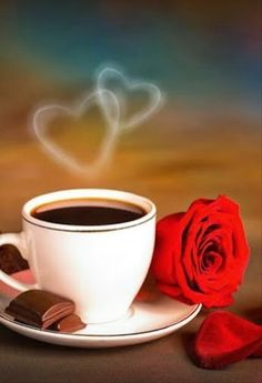 Coffee and flowers steamy hearts Good Morning Coffee Gif, Good Morning Massage, Good Morning Beautiful Pictures, Good Morning Images Flowers, Good Morning Picture, Morning Pictures, Gif Café, Good Morning Animation, Good Morning Wallpaper