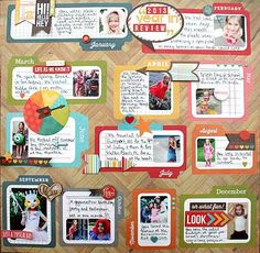 2013 Year in Review #scrapbook #layout