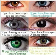 Comment what you are. I'm divergent, but doesn't this mean that Percy Jackson is a runner, not a demigod?