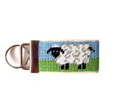 needlepoint key fob | Needlepoint Kit, Sheep Key Fob with monogram option