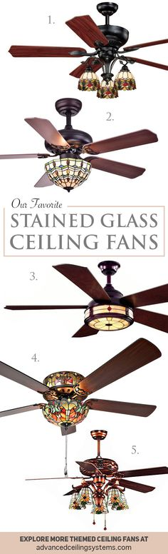 Ceiling Fans That Feature Stained Glass Lighting Is A Fun Way To Add Pop Of