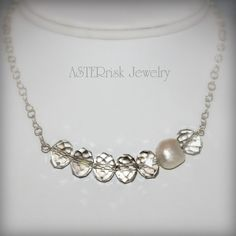 Necklace  Crystal Pearl Sterling Silver by asterrisk on Etsy, $70.00