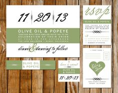 Modern Wedding Invitation Card RSVP Hang Tag by differentdesigns10, $50.00