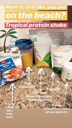 Tropical protein shake – Detox Cleanse For Weight Loss Arbonne 30 Day Challenge, Arbonne 30 Day Detox, Arbonne Cleanse, Cleanse Detox, Detox Challenge, Arbonne Shake Recipes, Arbonne Protein Shakes, Protein Shake Recipes, Smoothie Recipes