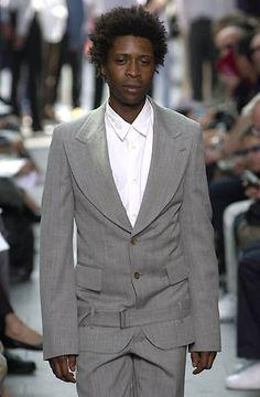 Comme des Garcons Homme Plus - StyleZeitgeist Comme Des Garcons, Black Models, Men Fashion, Suit Jacket, Suits, Jackets, Tops, Moda Masculina, Down Jackets