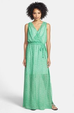 KUT from the Kloth Tie Front Maxi Dress | Nordstrom