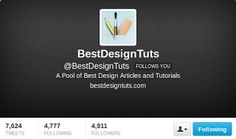 Check out 20 most popular #twitter accounts talking about #web #design, #development and more