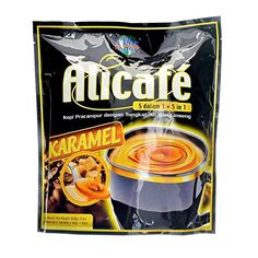Power Root Alicafe 5 in 1 KARAMEL ( Caramel ) Instant Premix Coffee Drink With Tongkat Ali & Ginseng 600 g ( 40 g  15 Sachets) Arabica Robusta, Instant Coffee, Sachets, Root Beer, Coffee Drinks, Coffee Beans, Gourmet Recipes, Ali, Caramel