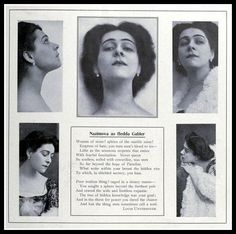 """Alla Nazimova as """"Hedda Gabler"""" article Theatre Stage, Theater, Hedda Gabler, Sound Film, Russian American, Sewing Circles, History Projects, Silent Film, Screenwriting"""