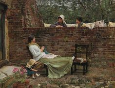Gossip, 1911, John William Waterhouse. (1848 - 1917)