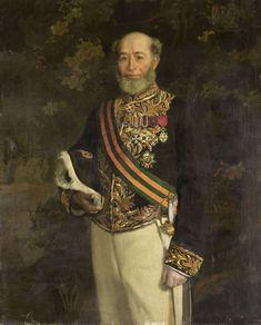Portret van Frederik s'Jacob (1822-1901). Gouverneur-generaal (1880-84).  Onderdeel van een reeks van portretten van de gouverneurs-generaal van het voormalige Nederlands Oost-Indië. 1895-1896