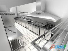 Cozinha industrial inox sob medida