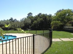 Swimming pool fence is a type of fence placed around backyard swimming pools, New pool fence out of your choice of materials to fit your design and budget are available in the market, from wood to ornamental, iron, vinyl, chain link etc.