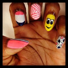 WAH Nails — only want the pinky nail design .