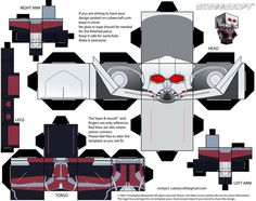 Ant Man Capitan America Civil War Cubeecraft by JagaMen on DeviantArt