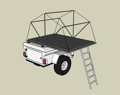 So, this is what I ended up doing: If I build a new trailer I think that. Tent Campers, Car Camper, Mini Camper, Camper Caravan, Expedition Trailer, Overland Trailer, Trailer Tent, Trailer Plans, Tiny Trailers