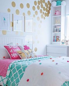 Teen Girl Bedroom Decorating Ideas   Contemporary With IKEA Furniture In  Turquoise And White And Gold