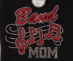 band mom tee band tee band mom rhinestone tee music by BlingByMKD