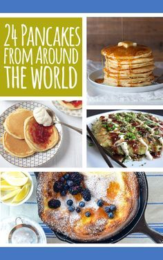 Pancakes From Around The World 24 Pancakes From Around The World.annnnd I would like to make all of Pancakes From Around The World.annnnd I would like to make all of them. What's For Breakfast, Breakfast Dishes, I Love Food, Good Food, Yummy Food, Pain Pizza, Waffles, Galette, Brunch Recipes
