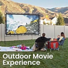 【Hot Sales 50% OFF!】Portable Giant Outdoor Movie Screen – beyondkrafty Buy Projector, Outdoor Projector, Movie Projector, Outdoor Movie Screen, Outdoor Movie Nights, Outdoor Cinema, Outdoor Theater, Outdoor Screens, Shopping
