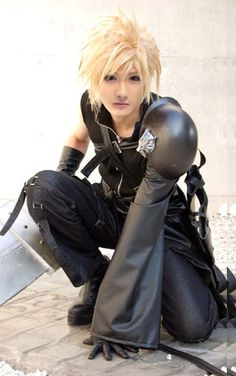 Cloud Strife Cosplay (From Final Fantasy 7) always though he was pretty hot to be a cartoon lol!