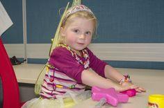 Mini EROADer Butterfly Eva rolls out playdough #goodvsevil #playatEROAD
