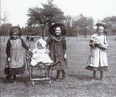 Happy little girls in Small Heath Park. So sweet..