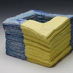 """Ceramics """"artistic stratum"""" 2014 #ceramics #pottery #paper #clay #paperart #paperclay #ceramic #art #unique #stratum #cardiff #uk #korean #PIAtexture jongjinpark_ceramics @jongjinpark_ceramics"""