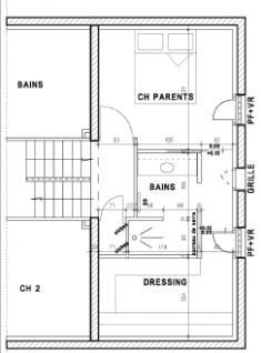 Plan d 39 une belle maison p rigourdine tage en dordogne for Amenagement suite parentale 15m2