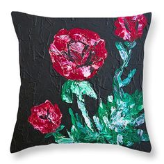 Red Roses Throw Pillow x Pillow Sale, Great Artists, Red Roses, Greeting Cards, Tapestry, Throw Pillows, Art Prints, Wall Art, Canvas