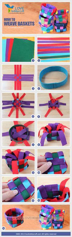 Basket weaving fabric diy - cute for an easter basket