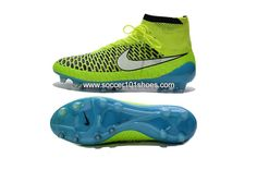 Nike Mens Magista Obra FG with ACC Football Boots Hi Top Soccer Cleats Fluorescent Green  $78.00